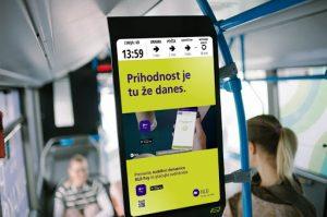 Lubliana Digital Signage bus
