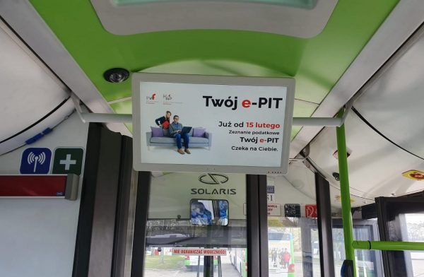 Poland digital signage bus