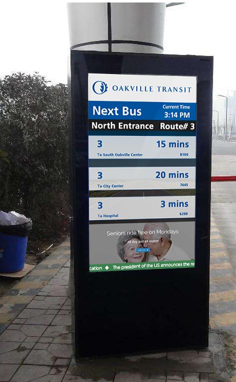USA bus stop advertising