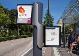 EU Bus Stop digital timetable