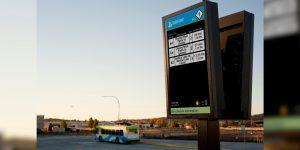 USA Bus Stop digital timetable
