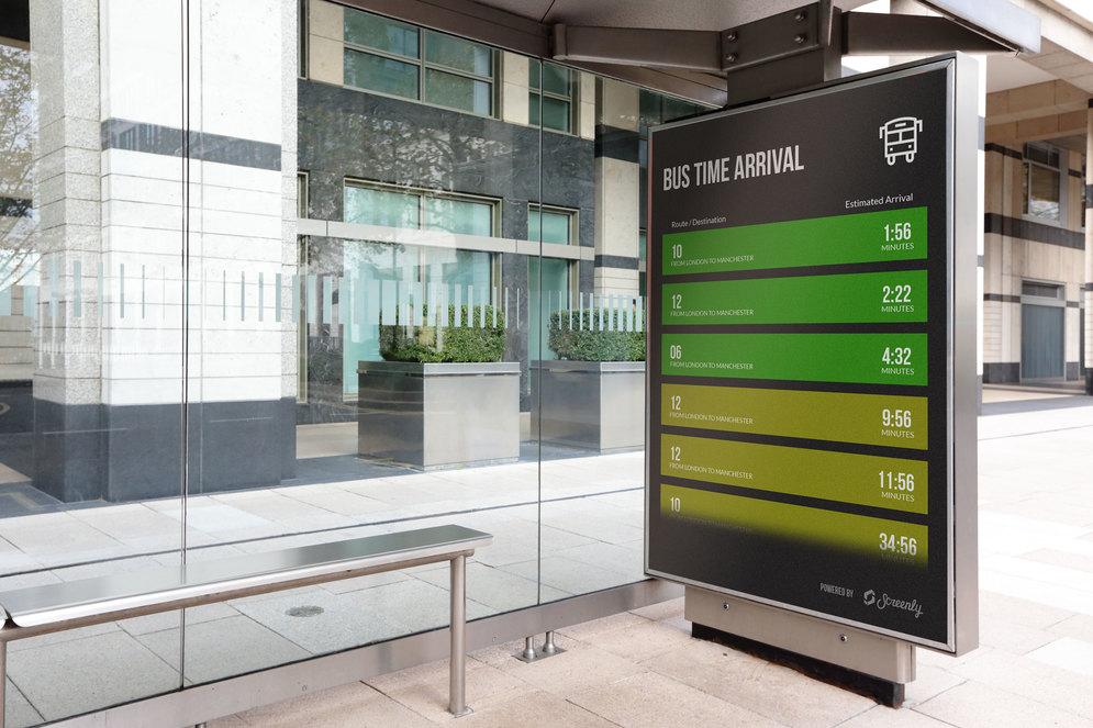 USA Digital Signage Bus Stop