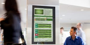 USA Digital Signage time table