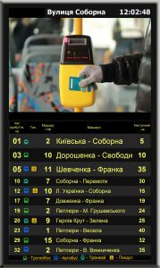 Digital Signage Bus Stop Timetable