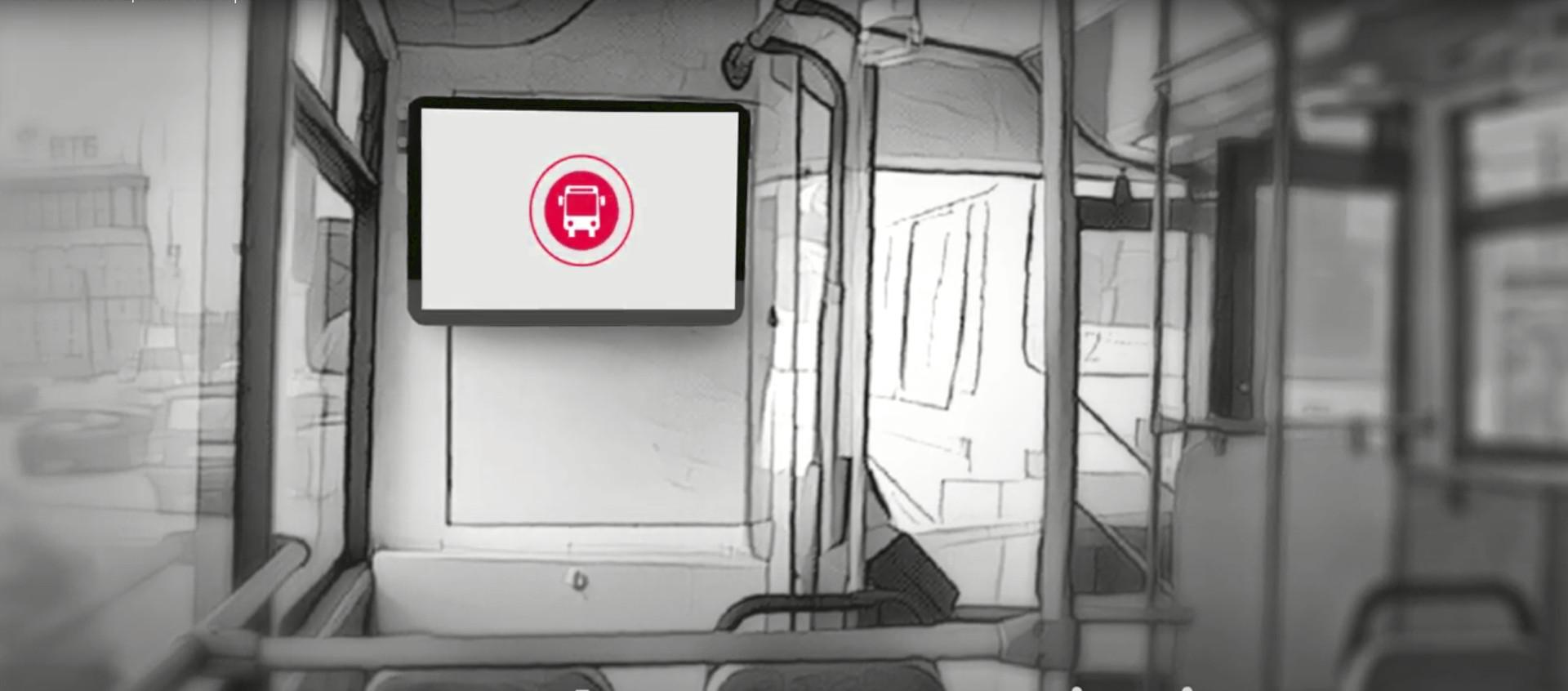 transport digital signage